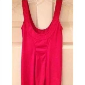 RED HELMUT LANG SLEEVELESS TOP SIZE P